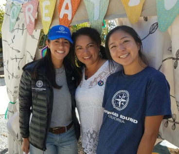 Standing with Adriana Guerrero and Jinny Jung from Outward Bound California
